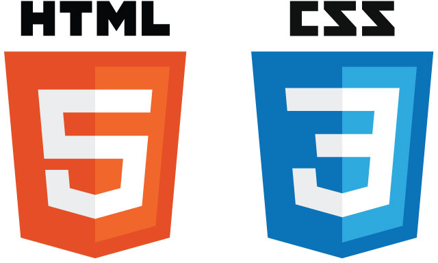 HTML5 CSS3 Logos in SVG
